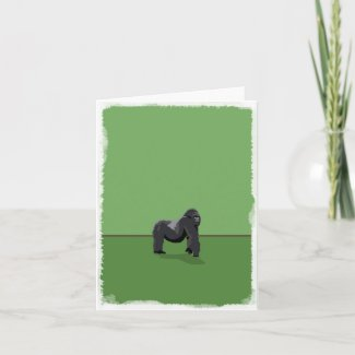 Gorilla blank greeting card
