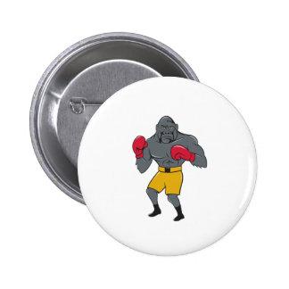 Gorilla Boxer Boxing Stance Cartoon 6 Cm Round Badge