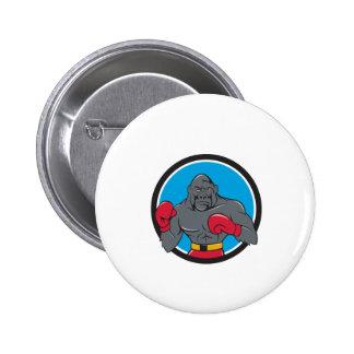 Gorilla Boxer Boxing Stance Circle Cartoon 6 Cm Round Badge