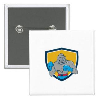 Gorilla Boxer Boxing Stance Crest Cartoon 15 Cm Square Badge