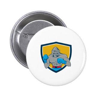 Gorilla Boxer Boxing Stance Crest Cartoon 6 Cm Round Badge
