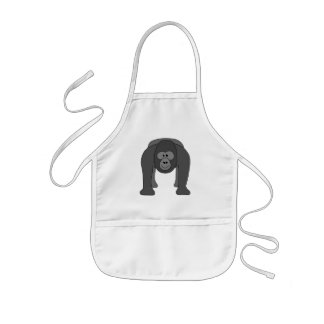 Gorilla Cartoon Kids Apron