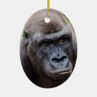 Gorilla Ceramic Oval Decoration