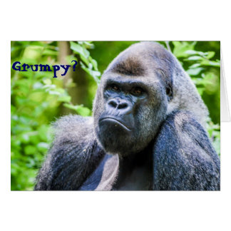 Gorilla Cheer Up Greeting Card
