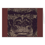 Gorilla, Close Up Face (gfaceacc) Greeting Card