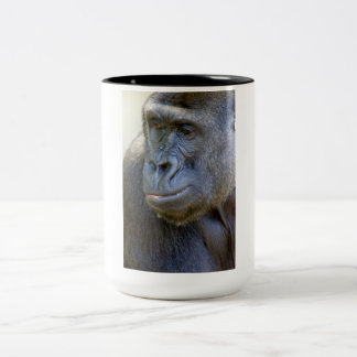 Gorilla Closeup Two-Tone Mug