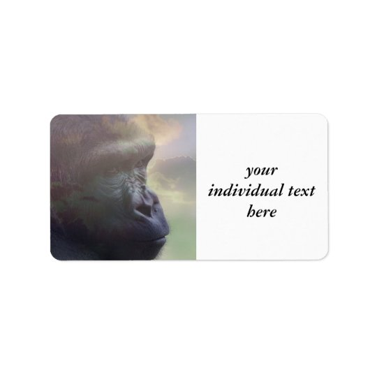 Gorilla Daydream Address Label