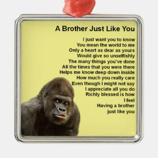 Gorilla Design - Brother Poem Christmas Ornament
