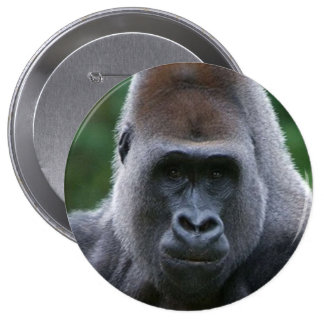 """Gorilla"" design gifts and products 10 Cm Round Badge"