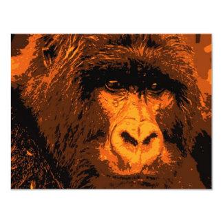 Gorilla Face 11 Cm X 14 Cm Invitation Card
