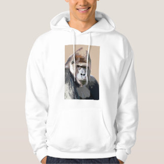 Gorilla Face Hoodie - Gorillas Shirts Animals