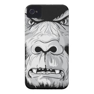 gorilla face realistic vector illustration iPhone 4 case
