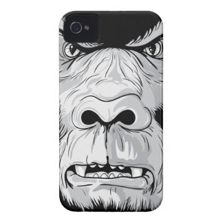 gorilla face realistic vector illustration iPhone 4 covers
