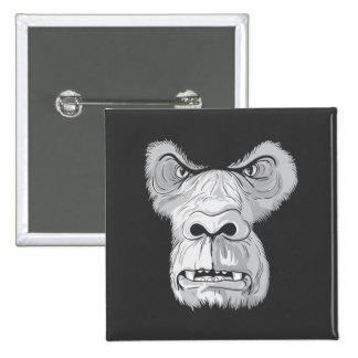 gorilla face vector 15 cm square badge
