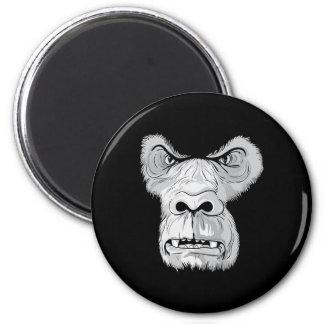 gorilla face vector 6 cm round magnet