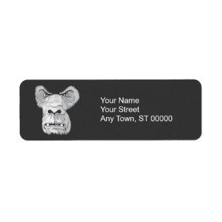 gorilla face vector return address label