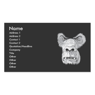 gorilla face vector pack of standard business cards