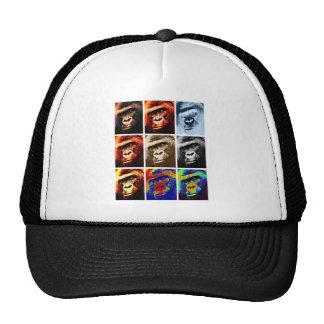 Gorilla Faces Mesh Hats