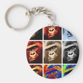 Gorilla Faces Key Chains