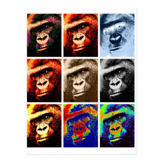 Gorilla Faces Postcard