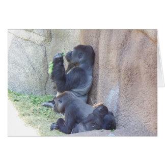 Gorilla Family Note Card