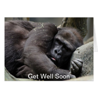 Gorilla Get Well Soon Greeting Card