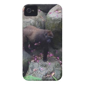 Gorilla in Flowers iPhone 4 Case