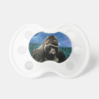 Gorilla in the meadow baby pacifiers