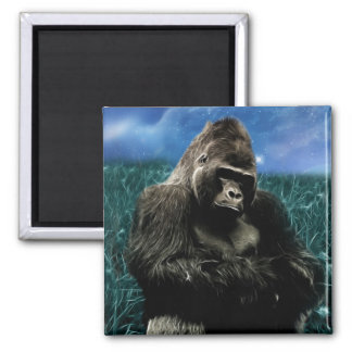 Gorilla in the meadow magnet