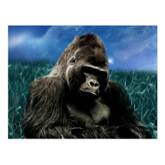 Gorilla in the meadow postcard
