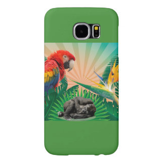 Gorilla jungle parrot samsung galaxy s6 cases