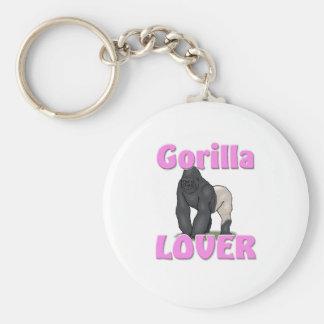 Gorilla Lover Key Ring
