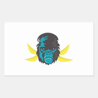 Gorilla Madness Rectangular Stickers