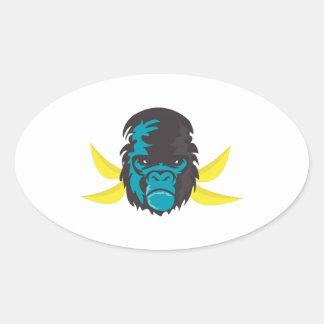 Gorilla Madness Oval Stickers