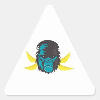 Gorilla Madness Triangle Stickers