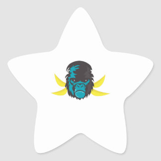 Gorilla Madness Star Sticker