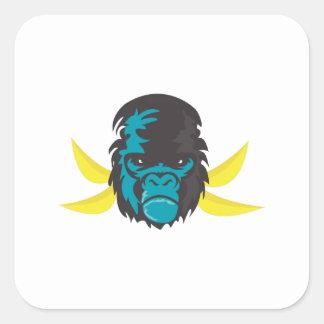 Gorilla Madness Square Sticker