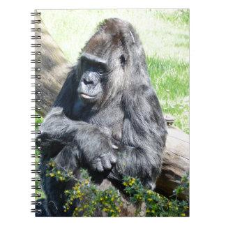 Gorilla Monkey Spiral Note Books
