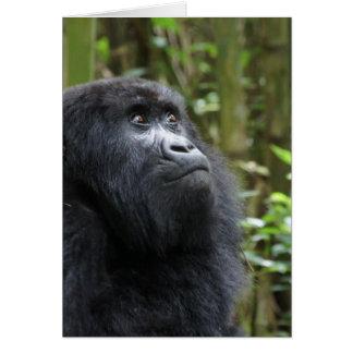 Gorilla my dreams - female note card