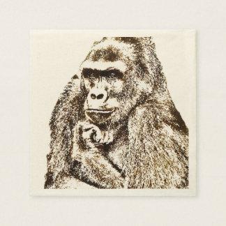Gorilla Napkins Paper Serviettes