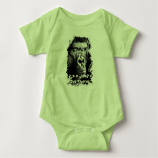 Gorilla Onsie It's a Jungle Out There!! Baby Bodysuit