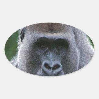 """""""Gorilla"""" Oval Sticker"""