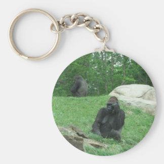 Gorilla pic basic round button key ring
