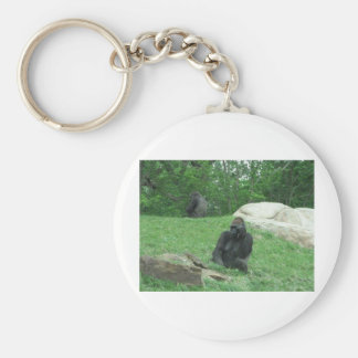 Gorilla pic basic round button key ring