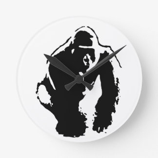 Gorilla Pop Art Clock