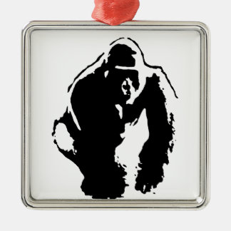 Gorilla Pop Art Christmas Tree Ornaments