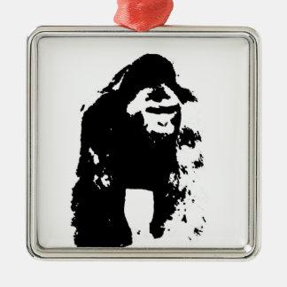 Gorilla Pop Art Christmas Tree Ornament