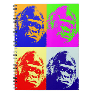 Gorilla Pop Art Spiral Notebook