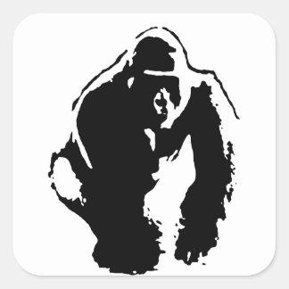 Gorilla Pop Art Square Stickers