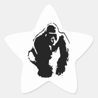Gorilla Pop Art Star Stickers